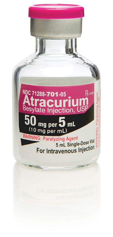 Atracurium Besylate Injection, USP 50 mg per 5 mL