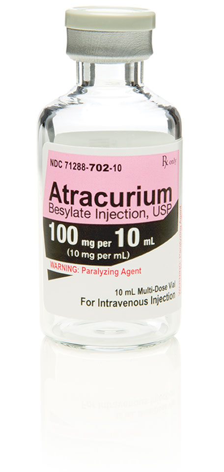 Atracurium Besylate Injection, USP 100 mg per 10 mL